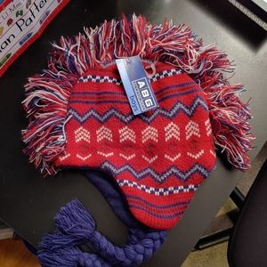 Other - Mohawk Top Winter Hat Fleece Inside